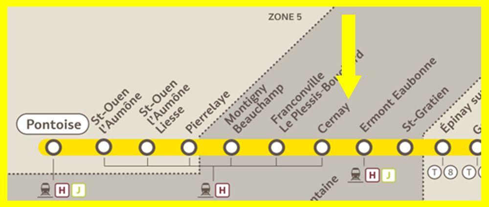 Plan RER C Cernay