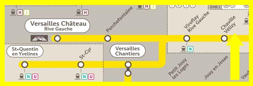 Plan RER C Chaville - Vélizy