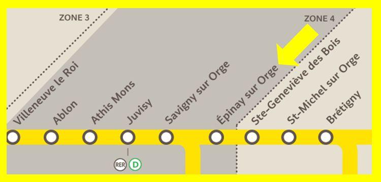 Plan RER C Epinay-sur-Orge