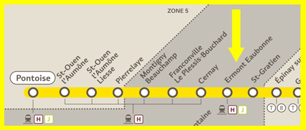 Plan RER C Ermont - Eaubonne