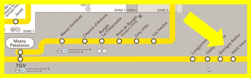 Plan RER C Gravigny-Balizy