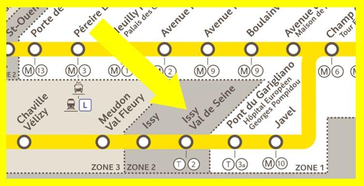 Plan RER C Issy - Val de Seine