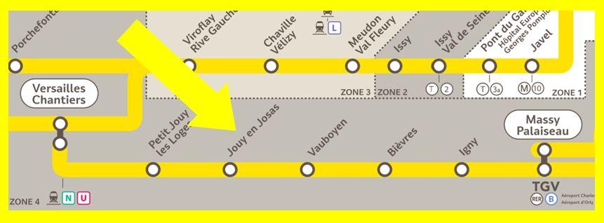 Plan RER C Jouy-en-Josas