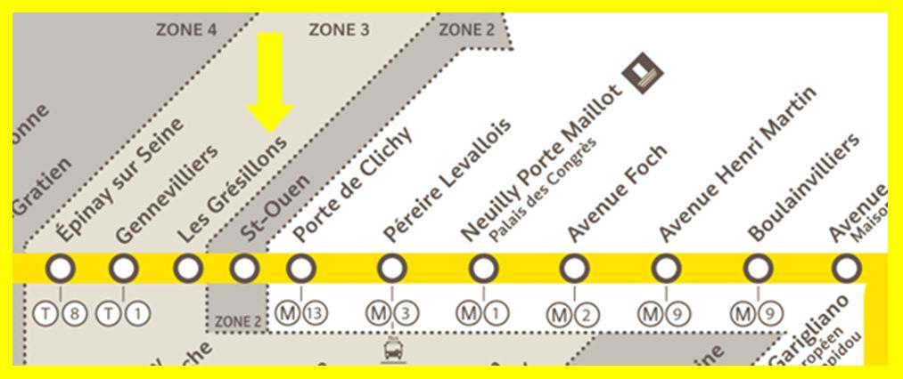 Plan RER C Les Grésillons