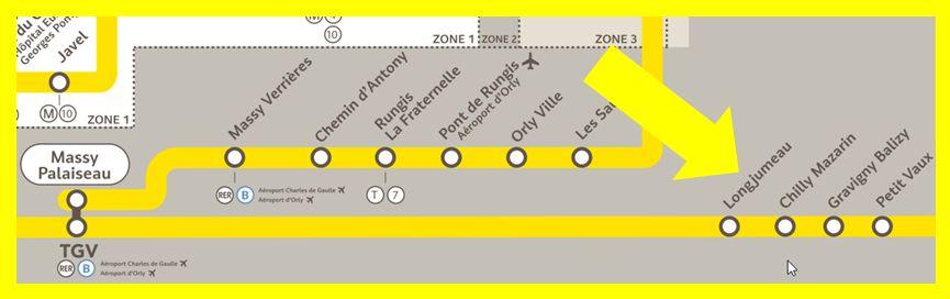 Plan RER C Longjumeau