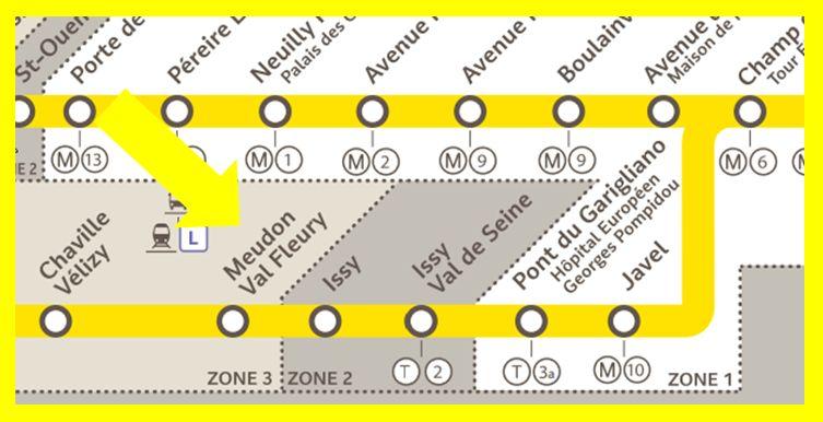 Plan RER C Meudon-Val-Fleury