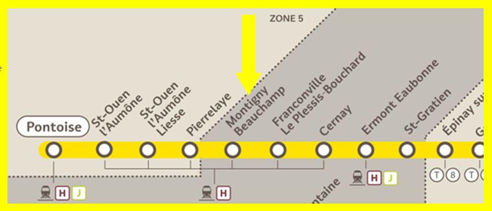 Plan RER C Montigny - Beauchamp
