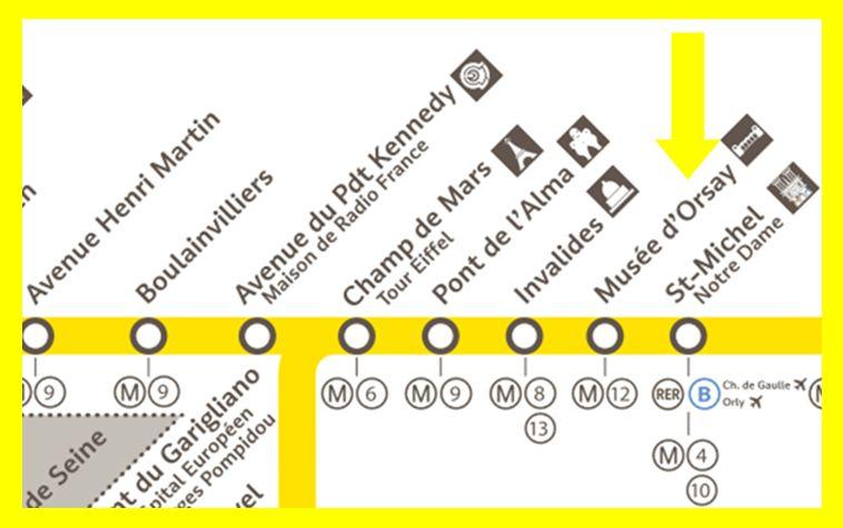 Plan RER C Musée d´Orsay