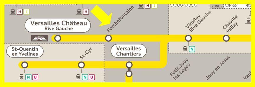 Plan RER C Porchefontaine
