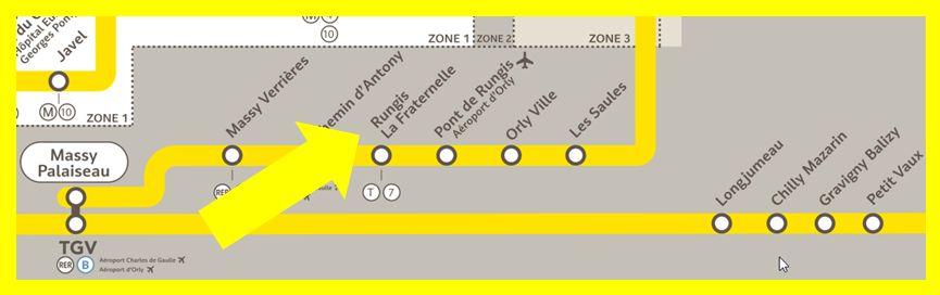 Plan RER C Rungis - La Fraternelle