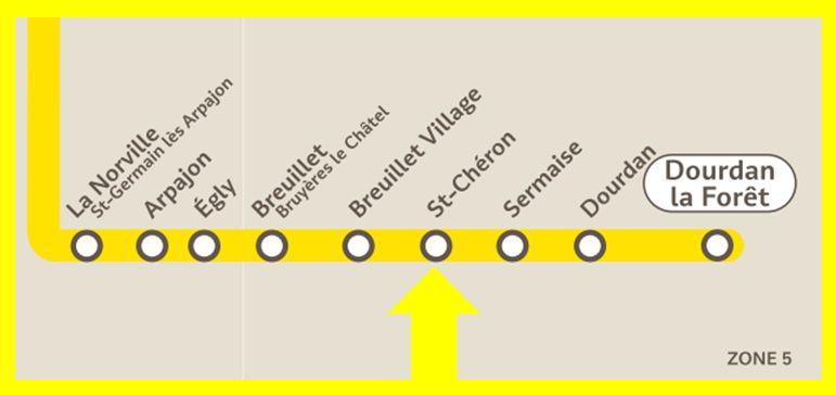 Plan RER C Saint-Chéron