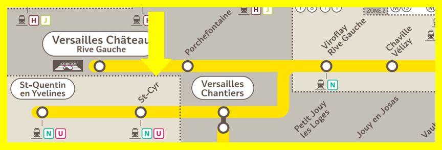 Plan RER C Saint-Cyr