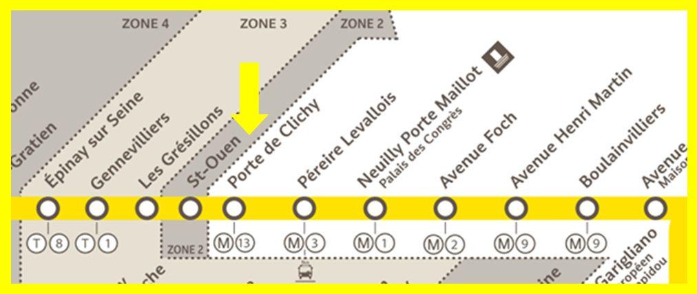 Plan RER C Saint-Ouen