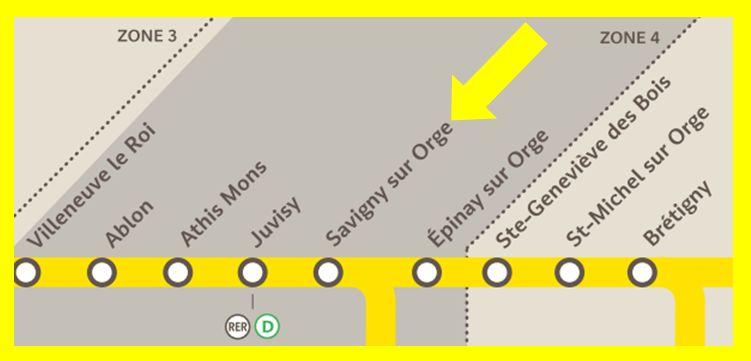 Plan RER C Savigny-sur-Orge