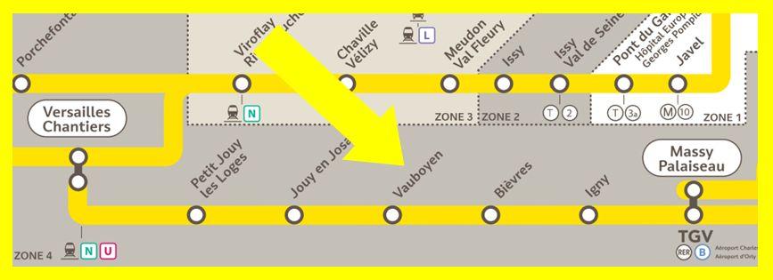 Plan RER C Vauboyen