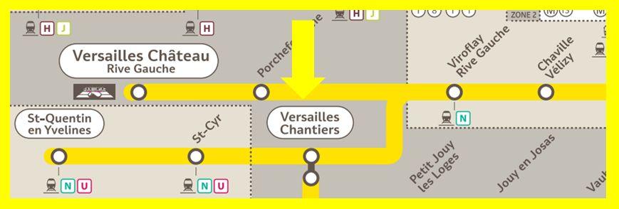 Plan RER C Versailles-Chantiers