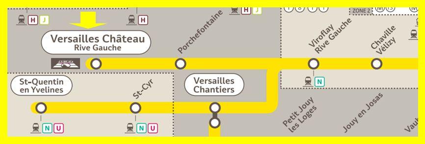 Plan RER C Versailles-Château-Rive-Gauche